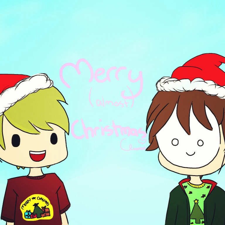 Cry and Pewds Merry Almost Christmas by chifferon101