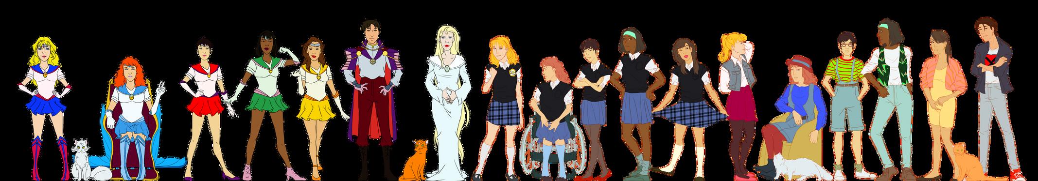 Saban Moon Re-Designs 2 + School Uniform