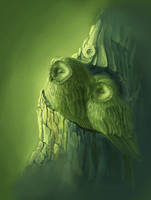 green owls by Owl-kapusha