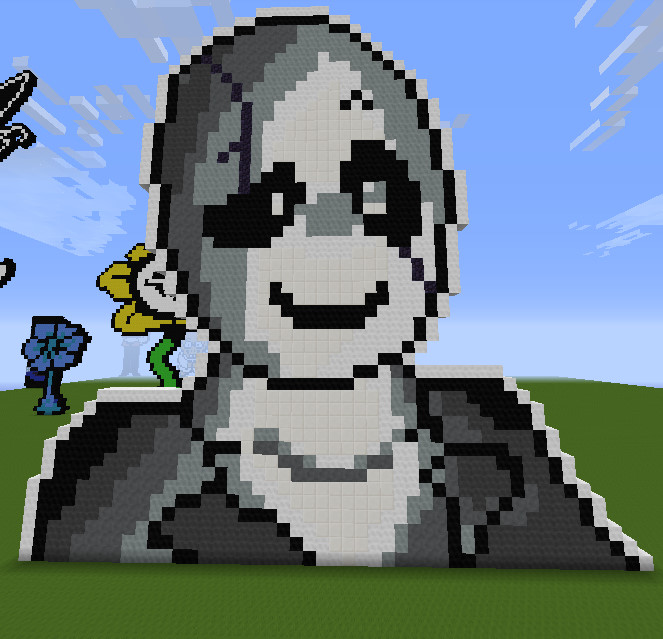 Minecraft Pixelart Gaster By Tigermcheh On Deviantart