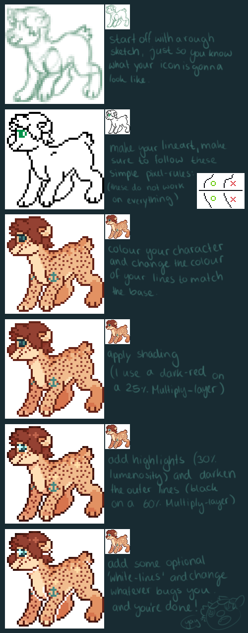 pixel icon tutorial by anchorseye