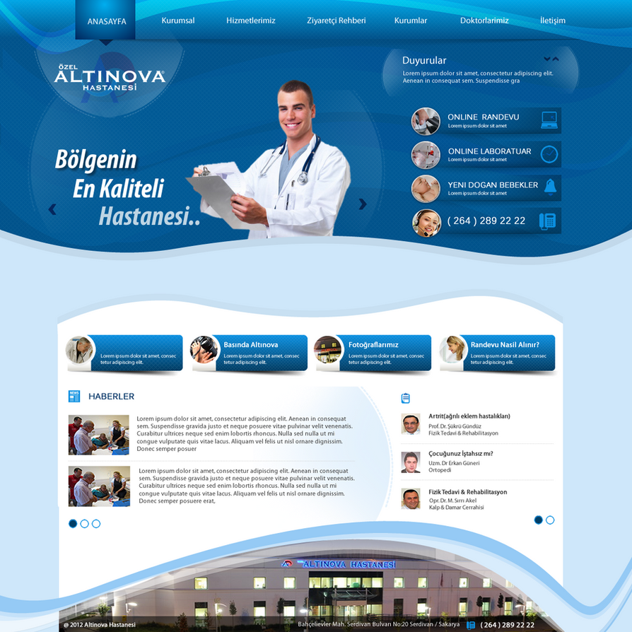 Hospital Web Design
