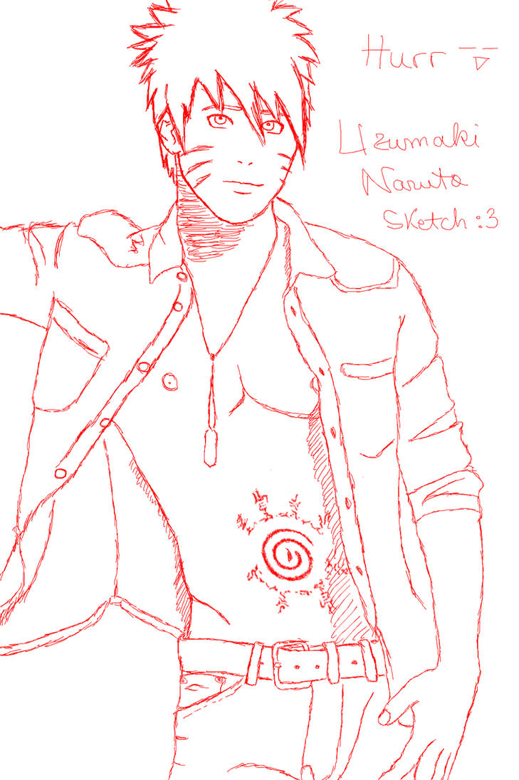 Uzumaki Naruto Sketch by bouncing-tomato