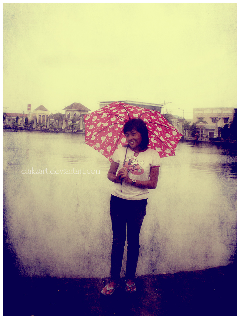You can stand under my umbrella. «
