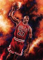 Michael Jordan by AlienTan
