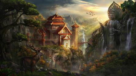 Temple by AlienTan