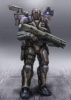 Cyborg Soldier by AlienTan