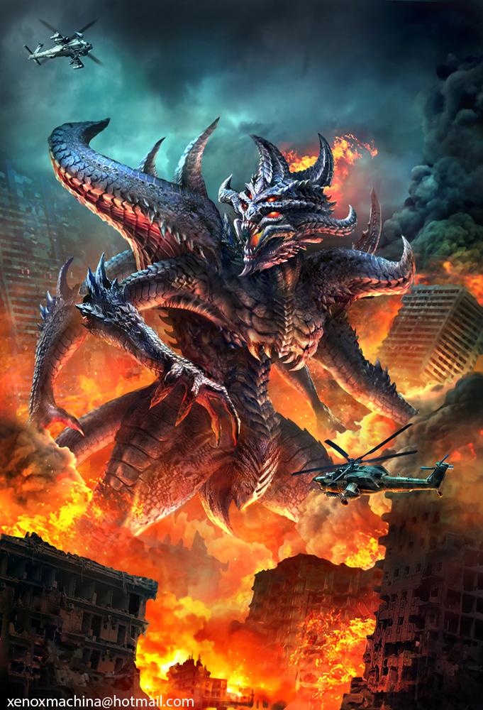 Fire Kaiju by AlienTan