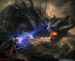 Dragon Battle by AlienTan