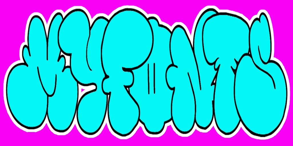 i in graffiti bubble letters - photo #19