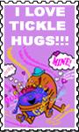Stamp - I Love Tickle Hugs!!! by TicklishAndInLove