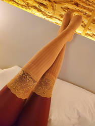 Lace Topped Socks by TicklishAndInLove