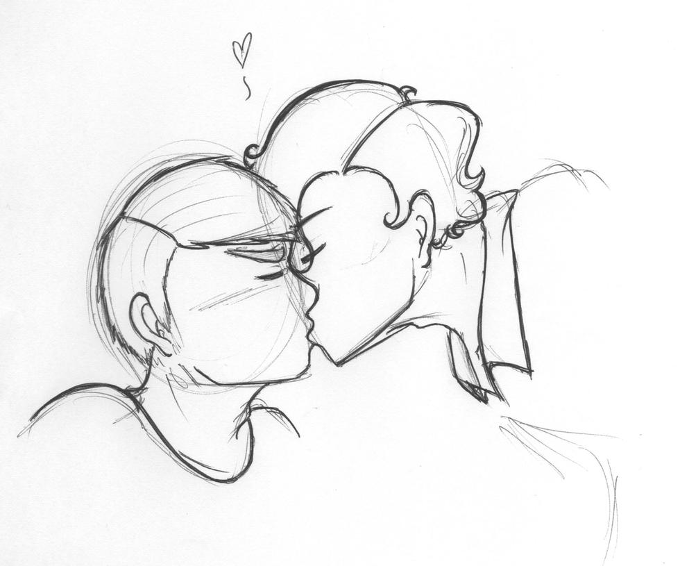 Johnlock Kiss by ImHereForTheDrarry on DeviantArt