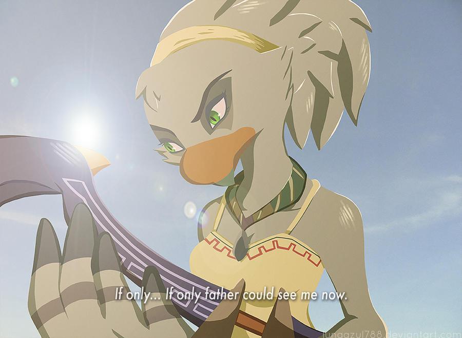 Zelda Botw The Rito Warriors Daughter By Lunaazul788 On Deviantart