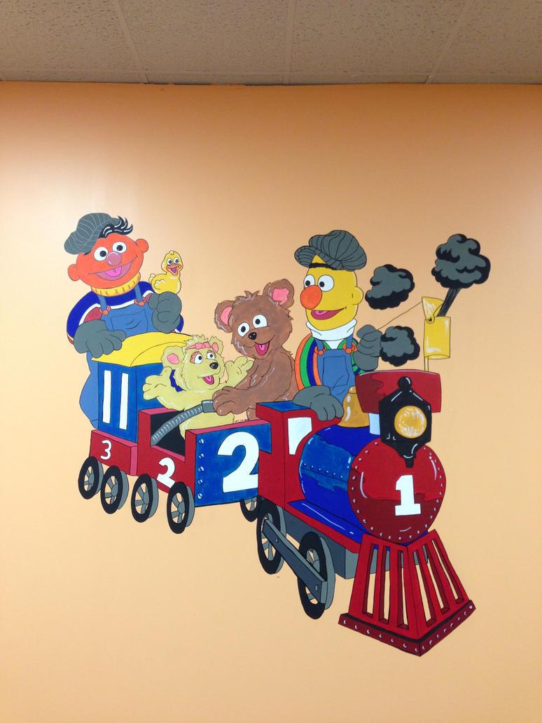 Sesame Street Mural by Xaviorisdeath on DeviantArt