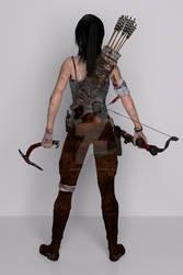 Tomb Raider Back View  2013 By Deviantaudio
