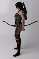 Tomb Raider  2013 Left View By Deviantaudio