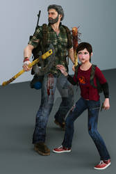 LAST-OF-US- JOEL+ELLIE TEST RENDER