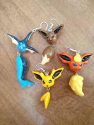Eeveevolution earrings!