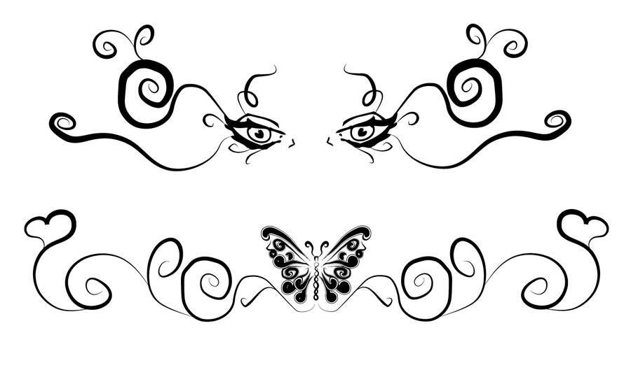 Lower Back Tattoo Flash by MaxDaMonkey