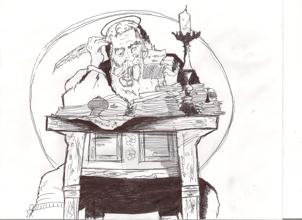 Norman Rockwell Sketch - Enjoy! by MaxDaMonkey