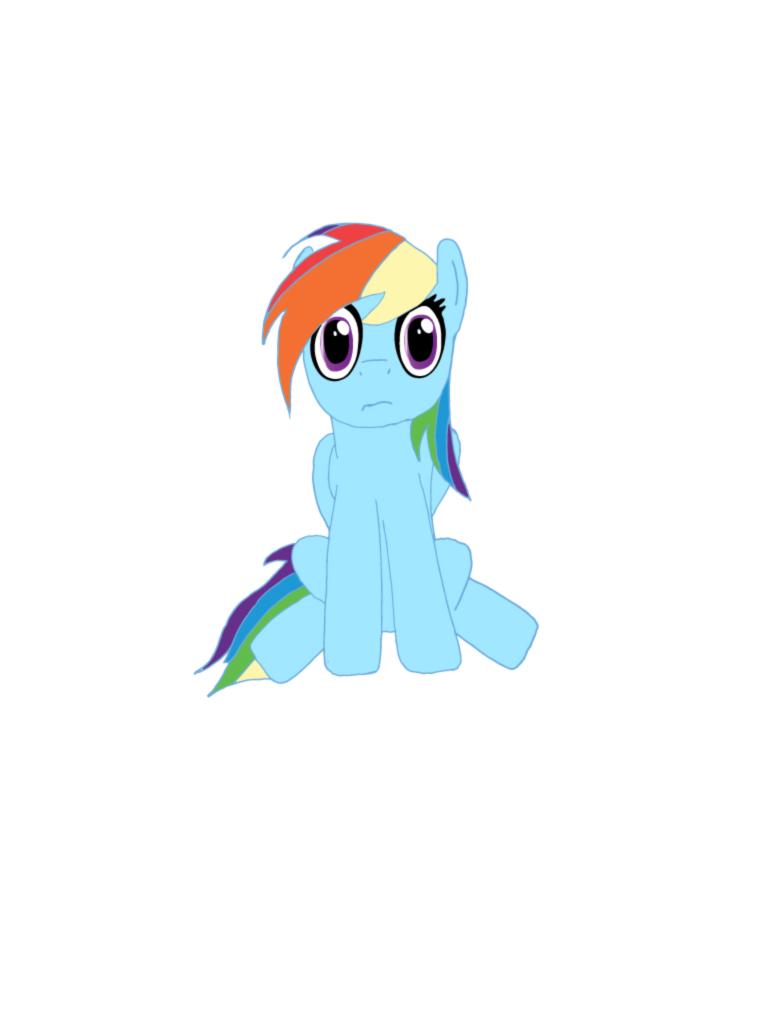 My first Rainbow Dash by MaxDaMonkey