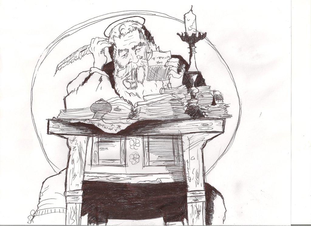 Norman Rockwell style Santa Sketch by MaxDaMonkey
