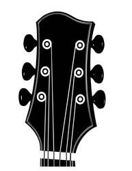 Guitar Head - Free Vector