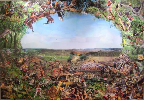 Deforestation collage