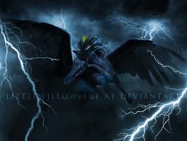 the lightning strike by littlewillow-art