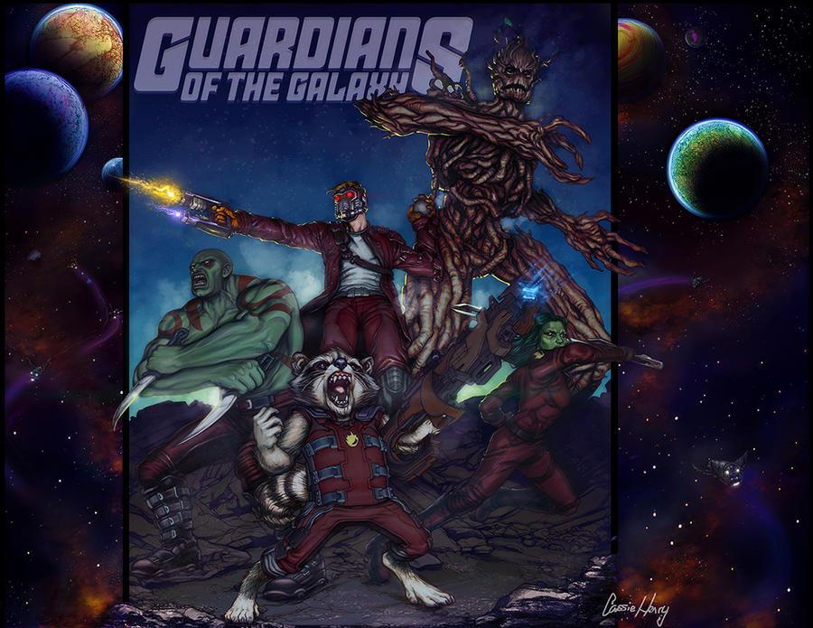 Guardians of the Galaxy by CassieHenryArt by CassieHenryArt
