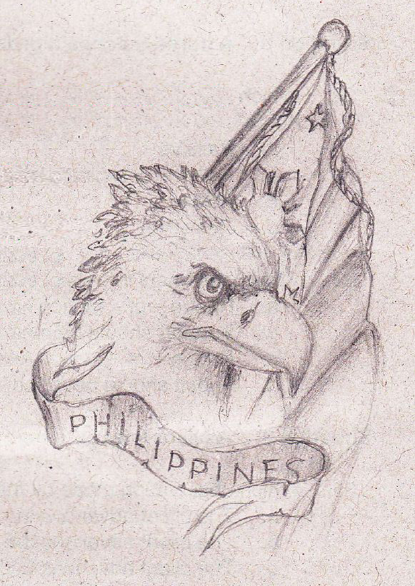 Philippine Eagle Drawing Flag