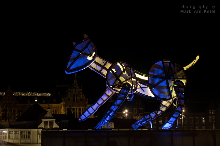 Amsterdam Light Festival XIV - Wolfert's Dog by blizzard2006