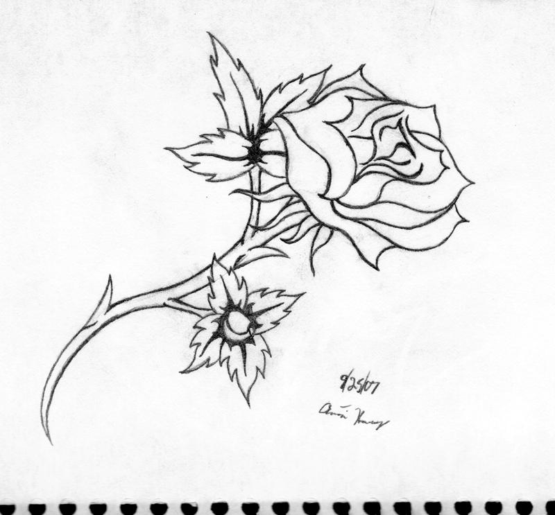 Line Drawing Tattoo Artists London : Line art of rose tattoo by katayoku on deviantart