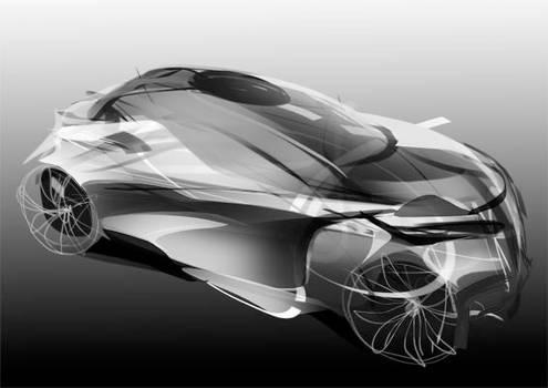Coupe quick car form sketch