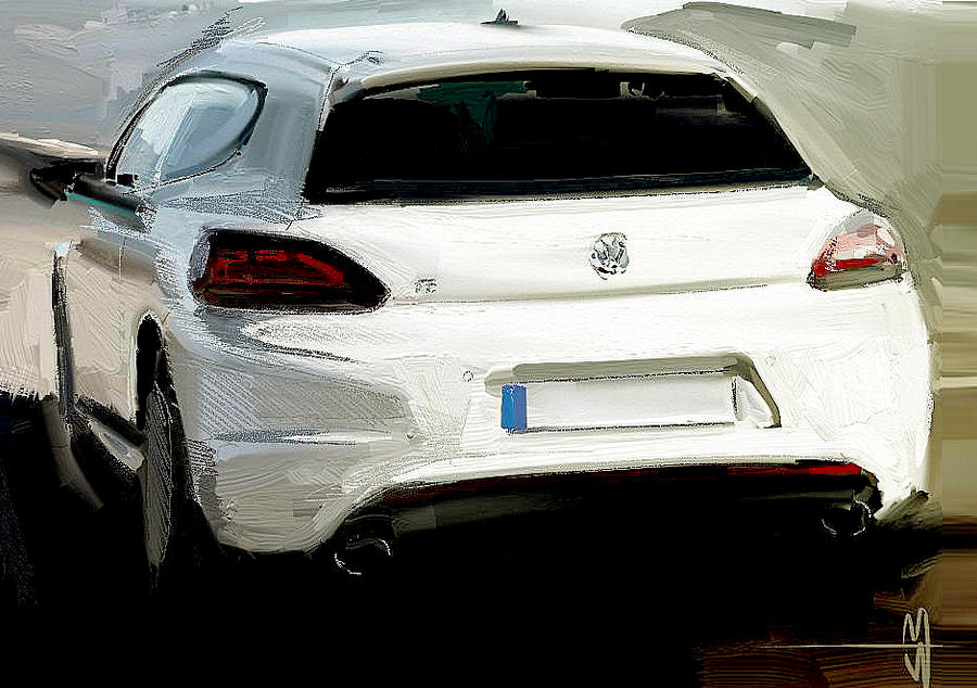 VW Scirocco trace painting by slime-unit