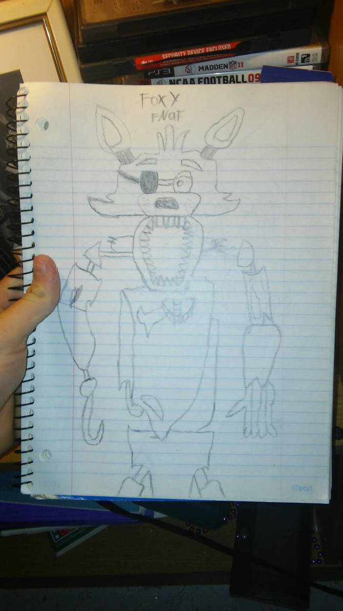 fnaf foxy drawing 1st attempt