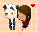 Panda+Love by shidabeeda