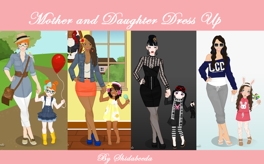 Mother and Daughter Dress Up by shidabeeda