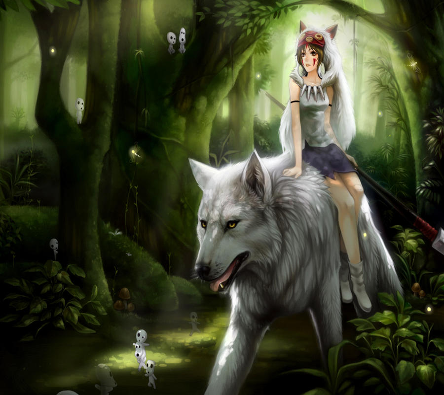 Wolves Girls And Wolf Girl: Wolf And Girl By Sexiidyke17 On DeviantArt