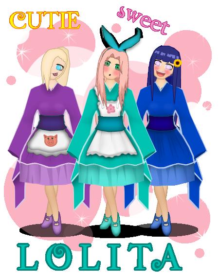 Lolita naruto girls by NaruNaruGirl