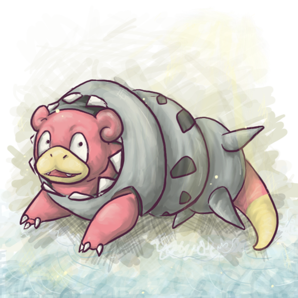Slowbro MegaBro by Aquimm