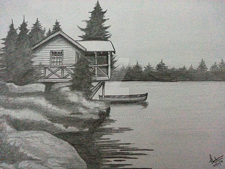 Lake house... by Thahaseen on DeviantArt