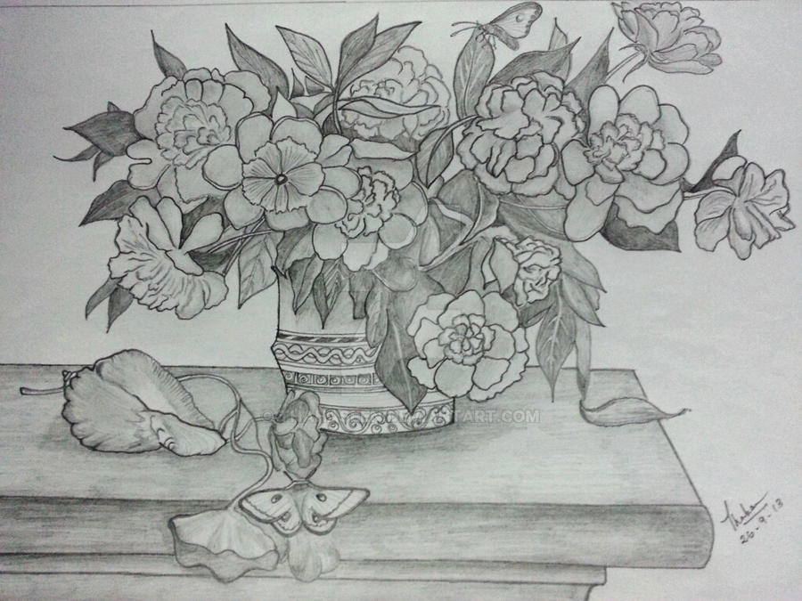 Flower Vase By Thahaseen On Deviantart