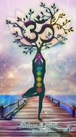 Yoga Tree Pose by PraxedesArt