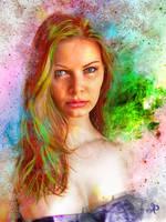 Star woman portrait by PraxedesArt