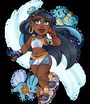Chibi Nessa - Pokemon by CookieTashArt