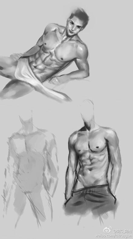 male anatomy Study by CitrusGun on DeviantArt
