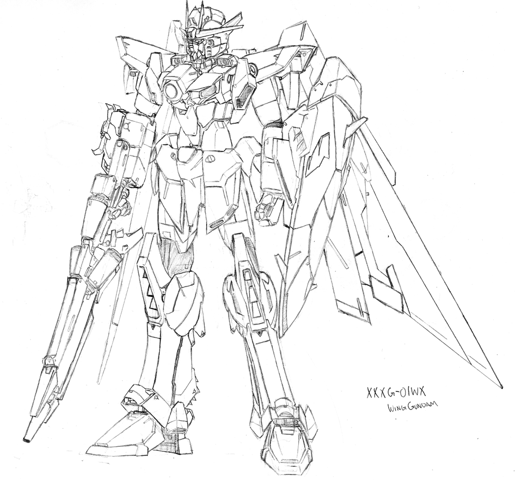 Gundam 00 free coloring pages for Gundam wing coloring pages