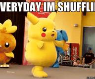 Everyday Pikachu's Shuffling by ianshen23